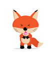 cute fox cartoon eat ice cream concept vector image