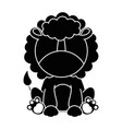cute lion character icon vector image