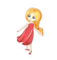 cute little cartoon girl vector image