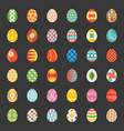 easter eggs set 3 flat design vector image