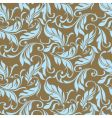 feather floral seamless pattern vector image vector image