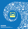 File JPG icon Nice set of beautiful icons twisted vector image