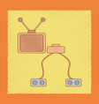 flat shading style icon kids tv game console vector image vector image