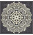 flower circle design on grunge background vector image vector image
