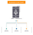 game gaming start mobile phone business flow vector image vector image