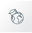 global education icon line symbol premium quality vector image