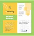 grapes company brochure title page design company vector image