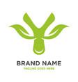 green leaf logo initials y vector image vector image