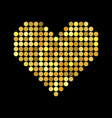 heart with halftone effect vector image vector image