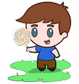 little boy and his candy vector image vector image