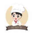 logo chef boy vector image vector image