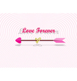Love arrow with couple of rings vector image vector image