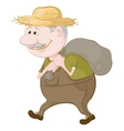 man carries a sack vector image