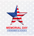 memorial day with star in national flag vector image vector image
