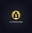 money bag dollar gold logo vector image