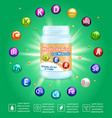 multivitamin complex advertising poster vector image vector image