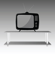 old tv on shelve vector image vector image