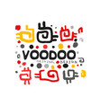 ornamental kid s style drawing voodoo magic logo vector image vector image