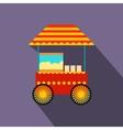 Popcorn cart flat icon vector image vector image