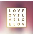 Romantic logo in frame vector image vector image