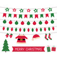 santa clothes bunting and christmas lights vector image vector image