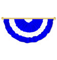 scottish blue and white bunting vector image