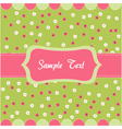 seamless floral pattern baby card vector image vector image