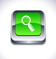 Searching 3d button vector image vector image