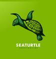 seaturtle mascot vector image