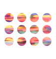 set bright gradient circle backgrounds vector image vector image