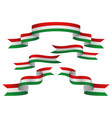 set hungary insignia in different shape of vector image vector image