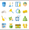 set of cleaning tools Flat design style vector image vector image