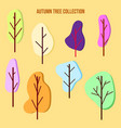 set of color trees in a flat style vector image