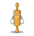 silent rolling pin character cartoon vector image vector image