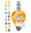 start up creative team energetics start up with vector image vector image