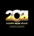 stylish greeting card happy new year 2021 vector image
