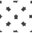 traditional korean pagoda pattern seamless black vector image