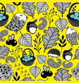 wallpaper pattern with autumn forest vector image