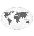 Wire globe map EPS10 vector image vector image