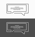 Quote blank template vector image