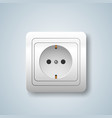 white socket icon on the grey background vector image