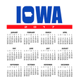 2017 Iowa calendar vector image
