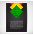 Vertical Flayer leaflet vector image