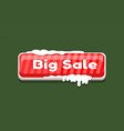 big sale web button covered snow online shopping vector image
