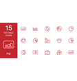 15 pie icons vector image vector image