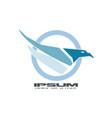 abstract blue hawk vector image vector image