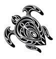 Abstract turtle vector image