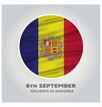 andorra independence day 8th september abstract vector image