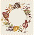 Autumn wreath vector image vector image