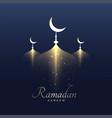 awesome ramadan kareem design background vector image vector image